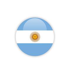Button argentina flag template design vector