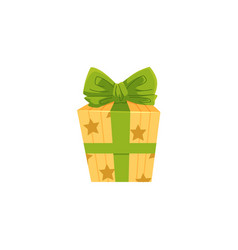 cartoon birthday present christmas gift vector image