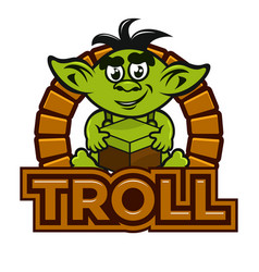 Cartoon troll mascot vector