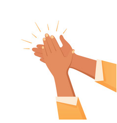 Clapping hands gesture composition vector