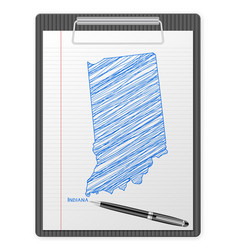 clipboard indiana map vector image