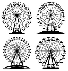 collection of park ferris wheels vector image