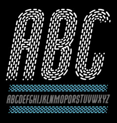 condensed funky capital english alphabet letters vector image