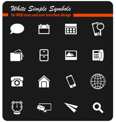Contacts icon set vector