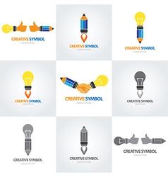 Creative symbol set vector image