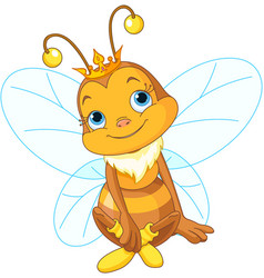Cute queen bee vector