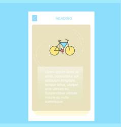 cycle mobile vertical banner design design vector image