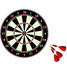 darts on white background vector image