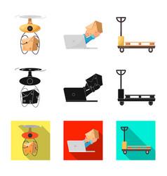 Design of goods and cargo logo set of vector