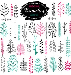 doodle branches vector image vector image