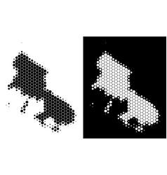Dot halftone skyros greek island map vector