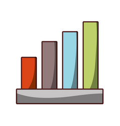 financial business economy report chart icon vector image