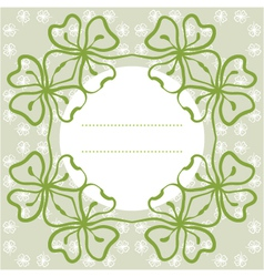 flower background with clover and place for text vector image