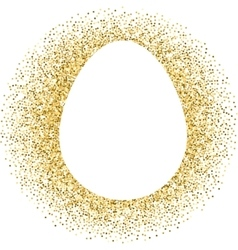 Gold Easter egg with lettering vector