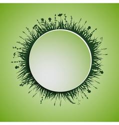 green circle vector image