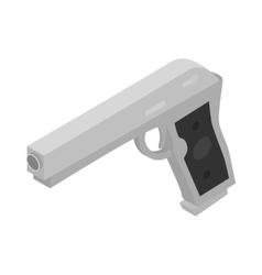 Gun icon isometric 3d style vector