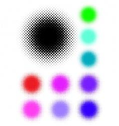 Halftone spots vector