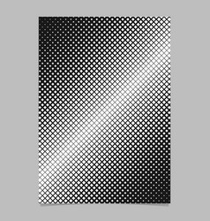 Halftone square pattern background brochure vector