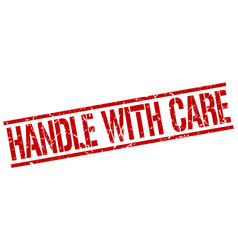 Handle with care stamp vector