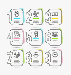 Handout conversation messages and targeting icons vector