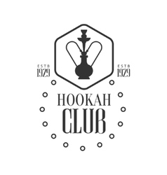 Hookah in hexagon frame premium quality smoking vector