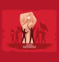 Indonesia merdeka poster vector