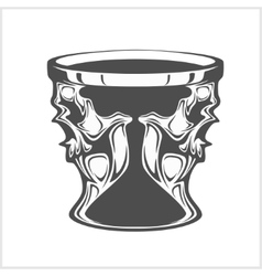 Isolated cup with a skull vector