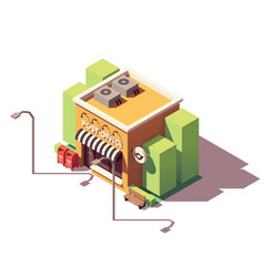 isometric post office vector image