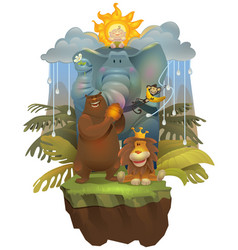 jungle boy vector image