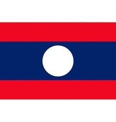 Laotian flag vector