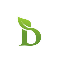letter d leaf nature logo vector image