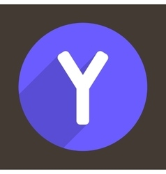 Letter Y Logo Flat Icon Style vector image