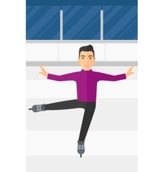 Male figure skater vector image
