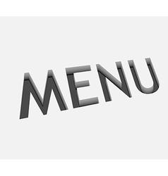 menu text design vector image