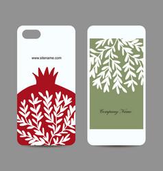 mobile phone design pomegranate background vector image