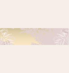 modern chic feminine stylish banner template vector image
