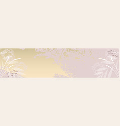 modern chic feminine stylish banner template with vector image