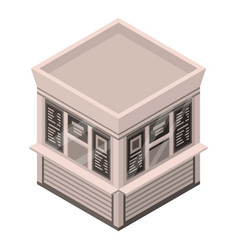 newspaper street shop icon isometric style vector image