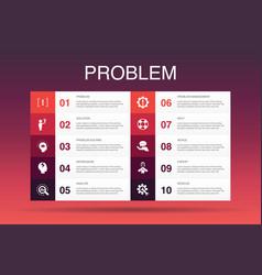 Problem infographic 10 option templatesolution vector