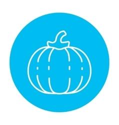 Pumpkin line icon vector