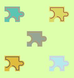 Puzzle piece set vector