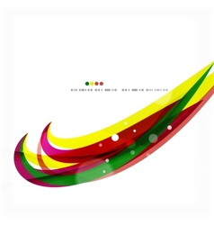Rainbow bright light air lines background vector image