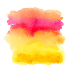 Red and yellow watercolor gradient banner vector