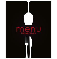 restaurant menu design food and drink background vector image