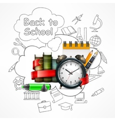School time Sketch vector image