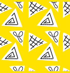 seamless primitive ethnic pattern vector image