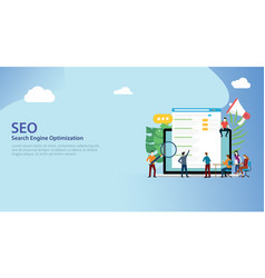 seo search engine optimization team working vector image