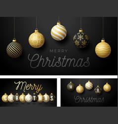 set luxury christmas and new year horizontal vector image