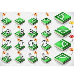 Set of Soccer Corner and Icons vector image