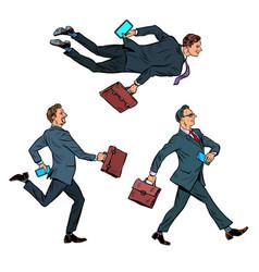 set successful businessmen vector image